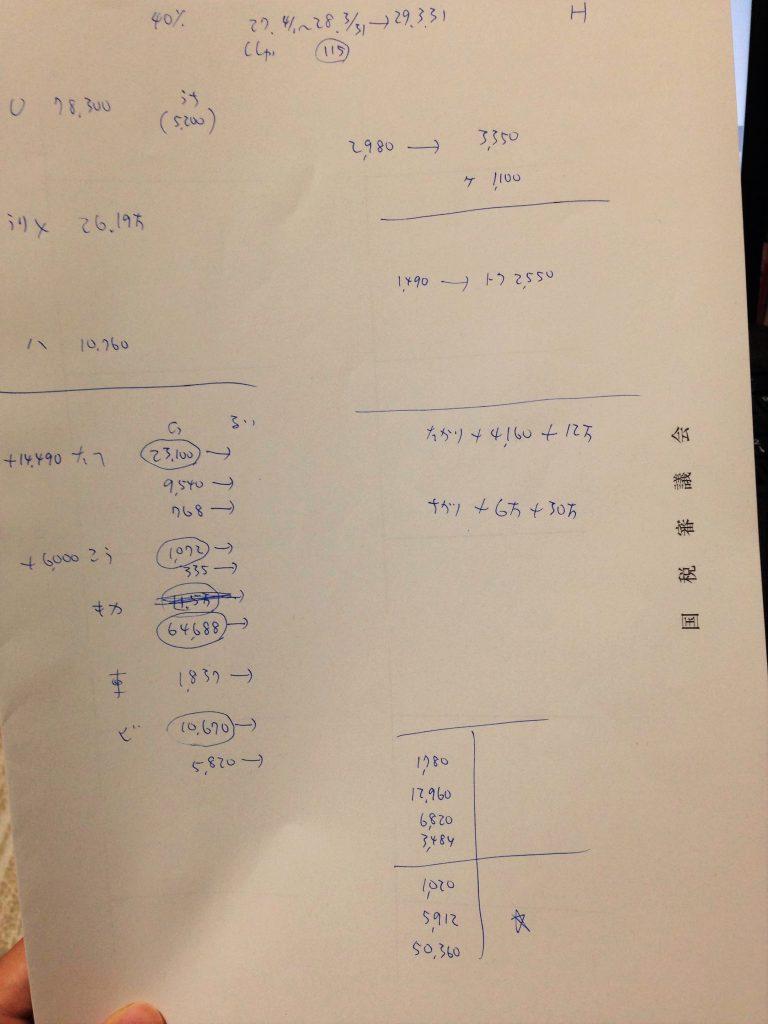 財務諸表論計算用紙