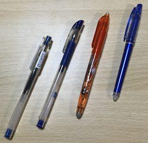 4種のペン