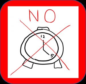 時計は使わない