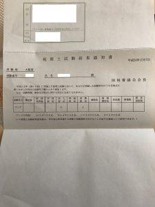 税理士試験科目合格通知書H24